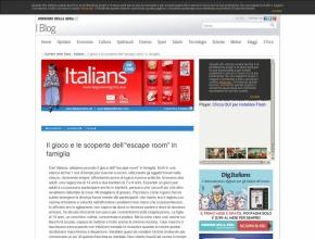 """Italians.corriere.it - Il gioco e le scoperte dell'""""escape room"""" in famiglia"""