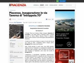 Il Piacenza - Piacenza: inaugurazione di Intrappola.to in via Taverna