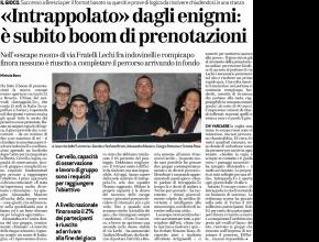 Brescia Oggi - Intrappolato dagli  enigmi: è subito  boom di prenotazioni