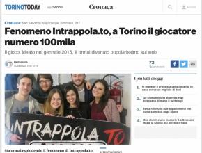 Torino Today - Fenomeno Intrappola.to, a Torino il giocatore numero 100mila