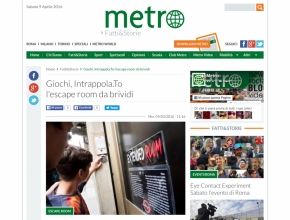 Metro - Giochi, Intrappola.To l'escape room da brividi