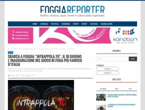 Foggia Reporter - Sbarca a Foggia Intrappola.to, inaugurazione del gioco di fuga più famoso d'Italia