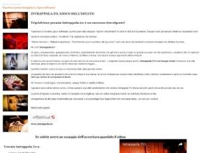 Il Corriere del Web - Tuttodonna - Intrappola.to, gioco dell'estate