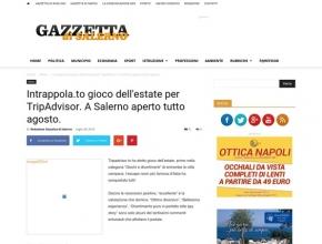 Gazzetta di Salerno - Intrappola.to, gioco dell'estate per TripAdvisor