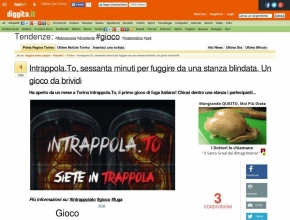 Diggita.it - Intrappola.to: sessanta minuti per fuggire da una stanza blindata