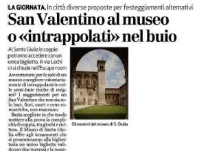 Brescia Oggi - San Valentino al  museo o «intrappolati»  nel buio