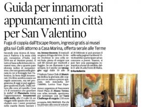Il Mattino di Padova - Guida per innamorati: Intrappola.to tra gli appuntamenti per San Valentino
