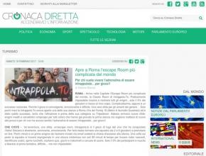 Cronaca Diretta - Apre a Roma l'escape room più complicata del mondo