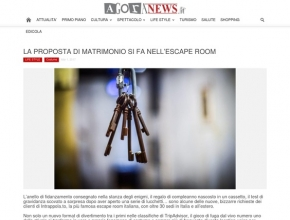 www.agoranews.it - La proposta di matrimonio si fa nell'escape room