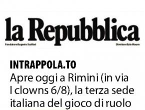 La Repubblica - Apre oggi a Rimini la terza sede di Intrappola.to