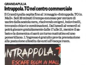 La Gazzetta del Mezzogiorno - GrandApulia: Intrappola.to nel centro commerciale