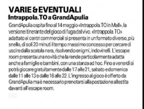 La Gazzetta del Mezzogiorno - Intrappola.to a GrandApulia