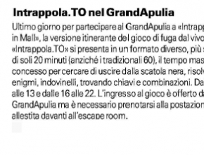 La Gazzetta del Mezzogiorno - Intrappola.to nel centro commerciale GrandApulia