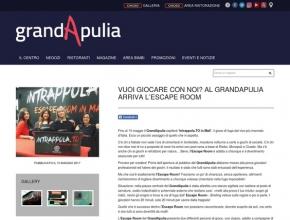GrandApulia - Vuoi giocare con noi? Al GrandApulia arriva l'escape room!