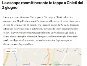 Chieti Today - La escape room itinerante fa tappa a Chieti dal 2 giugno