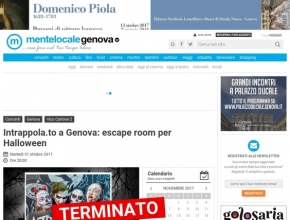 MenteLocale Genova - Intrappola.to a Genova: escape room per Halloween