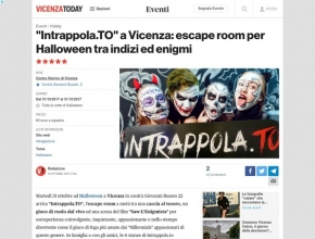 "Vicenza Today - Intrappola.TO"" a Vicenza: escape room per Halloween tra indizi ed enigmi"