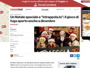Foggia Today - Un Natale speciale e Intrappola.to: il gioco di fuga aperto anche a dicembre