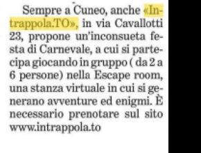 La Stampa - Intrappola.to a Carnevale è divertimento puro!
