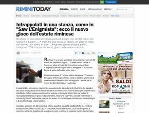 "Rimini Today - Intrappolati in una stanza, come in ""Saw L'Enigmista"""""